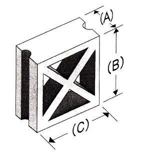 角型1/2X型(鉄筋溝入)
