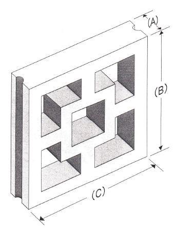 二重角型(鉄筋溝入)